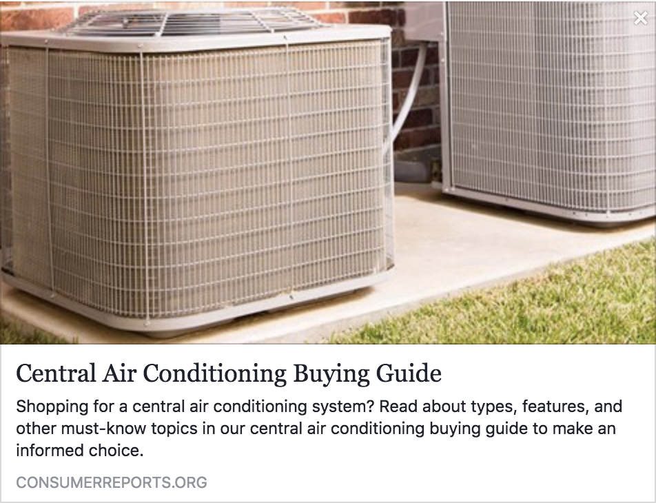 Central Air Conditioning Buying Guide